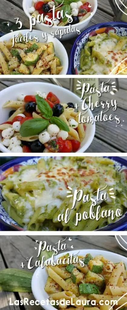 3 pastas |Las recetas de Laura