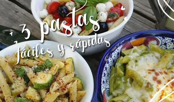 3 pastas | Las recetas de Laura