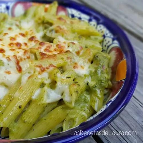 Pasta con chile poblano | Las Recetas de Laura