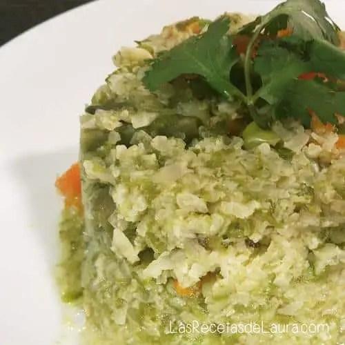 arroz de coliflor - las recetas de laura