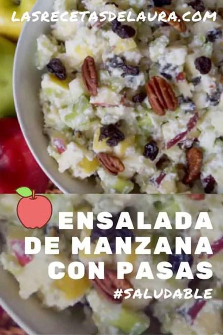 ensalada de manzana - las recetas de laura