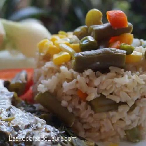 Arroz Integral con Verduras   Las Recetas de Laura
