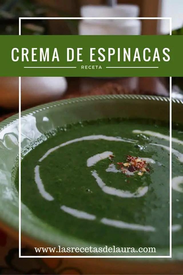 Crema de Espinacas Saludable | Las Recetas de Laura