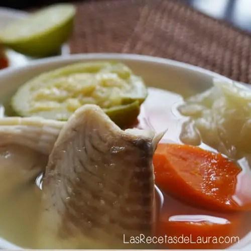 caldo de pescado - las recetas de laura