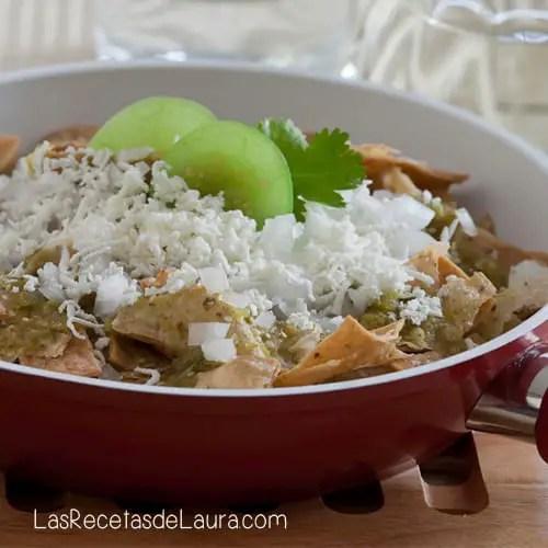 chilaquiles verdes - las recetas de laura