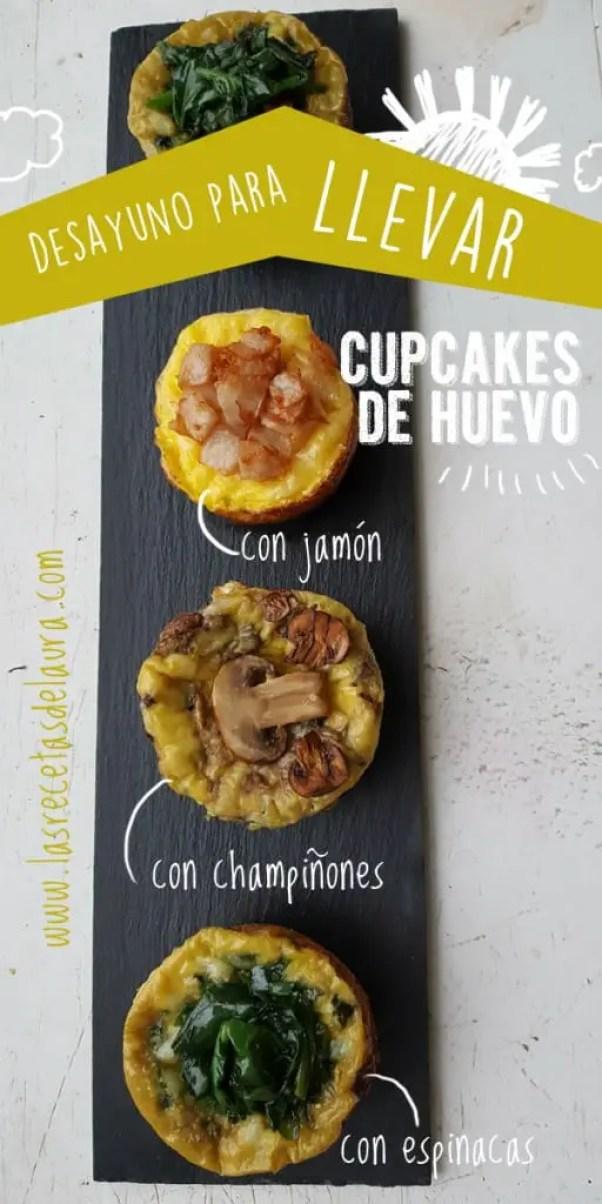 Desayuno Saludable - cupcakes salados - las recetas de Laura