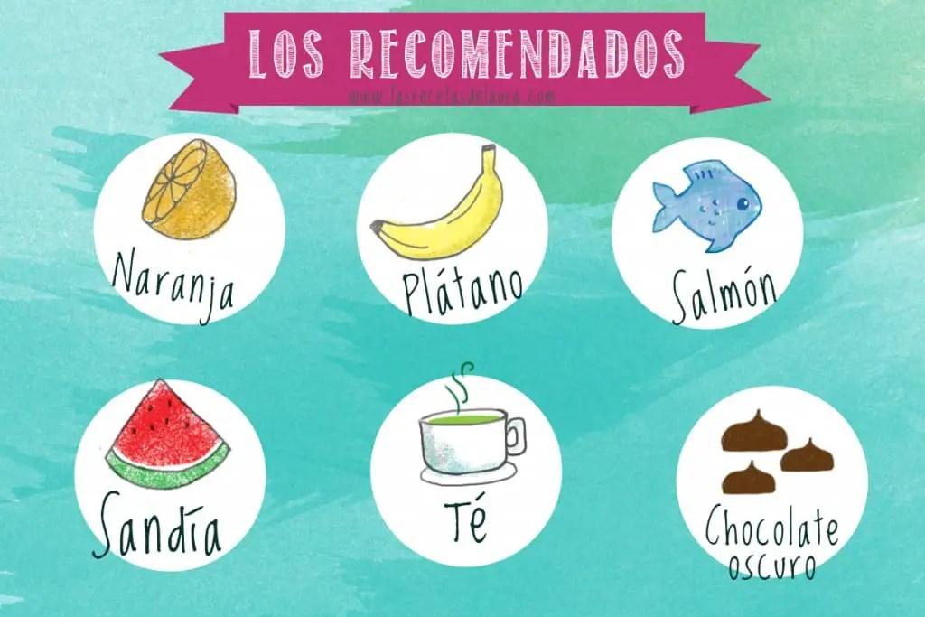 Alimentos recomendados durante el periodo - las recetas de Laura