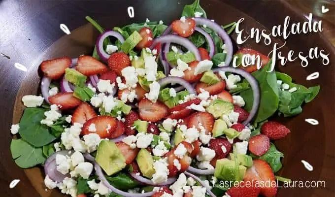 Ensalada de espinacas con fresas - Las Recetas de Laura