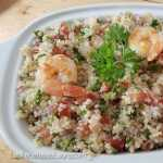Ensalada de quinoa con camarones - Las recetas de Laura