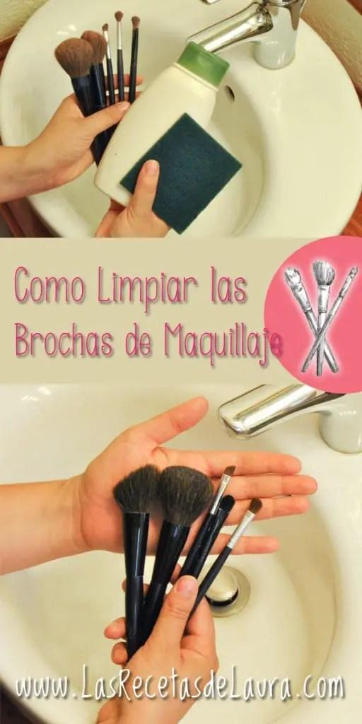 Como limpiar brochas de maquillaje - Las recetas de Laura