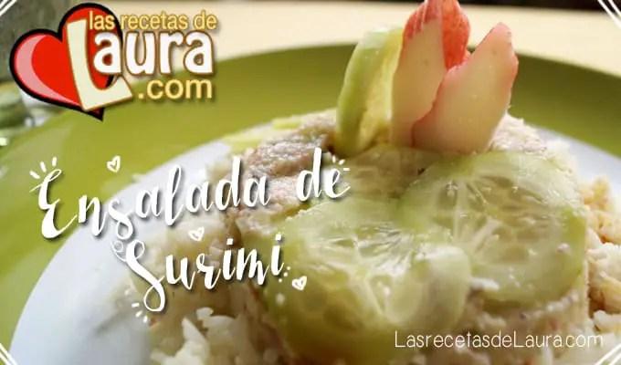 Ensalada de surimi - Las recetas de Laura
