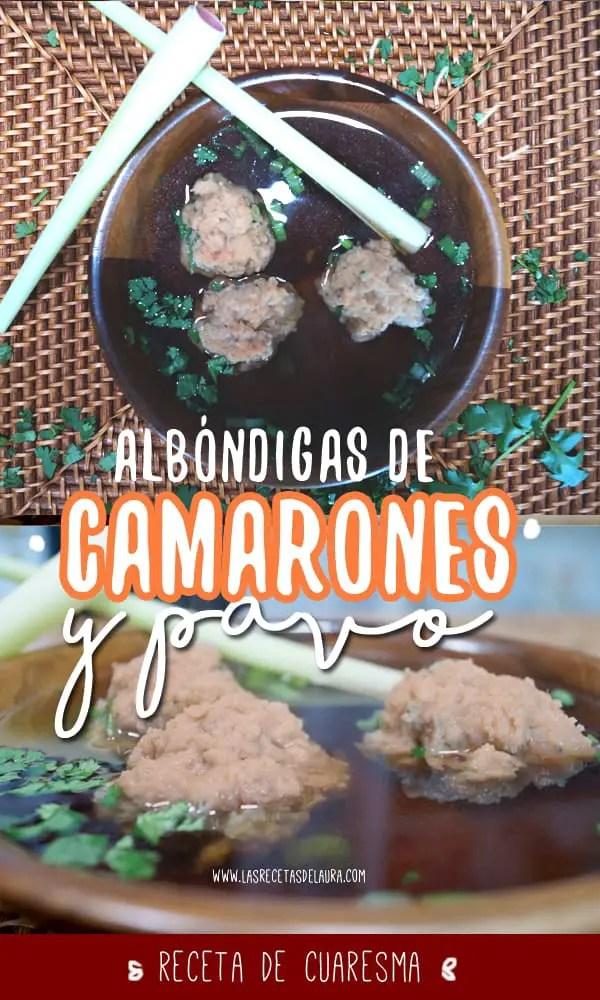 albondigas de camarones - las recetas de laura