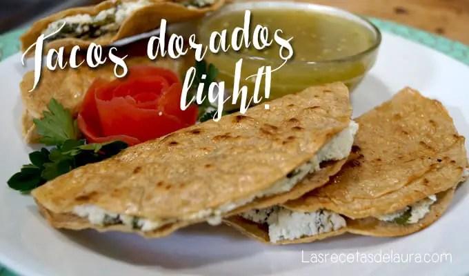 Tacos dorados light - las recetas de Laura