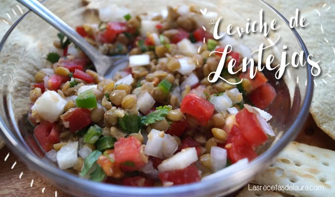 Ceviche de lentejas - recetas veganas