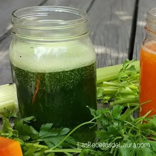 Jugo verde nutritivo
