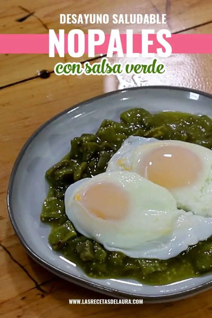 Receta de nopales en salsa verde