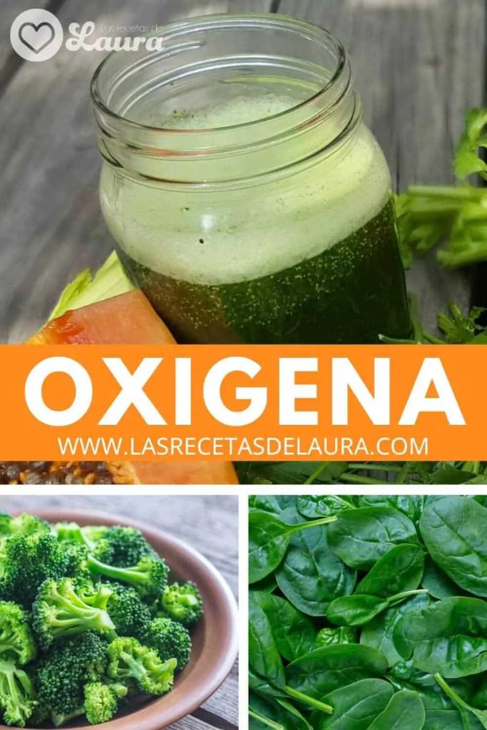 Jugo verde para oxigenar