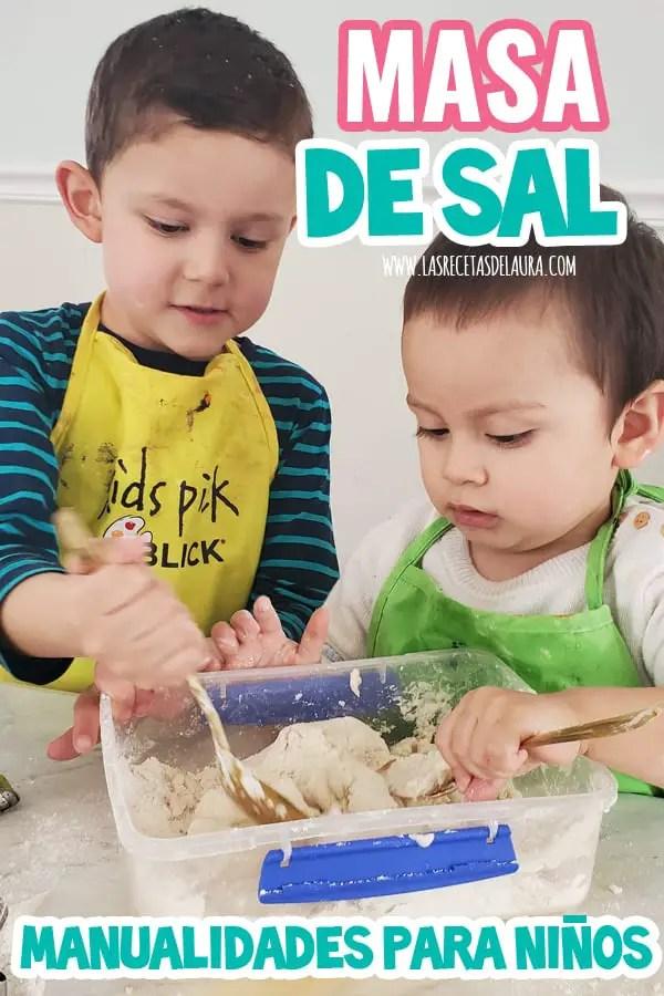 Masa de sal para niños