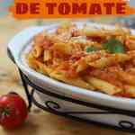 Receta de pasta en salsa de tomate casera