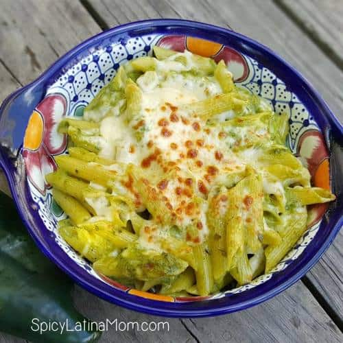 Pasta with poblano cream - Las recetas de Laura