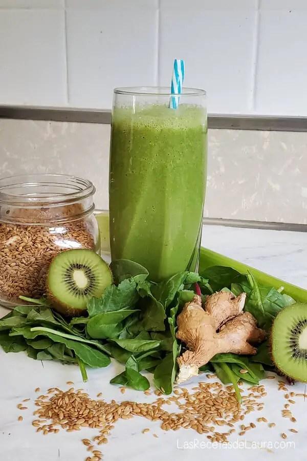 Jugo verde para mejorar la digestión