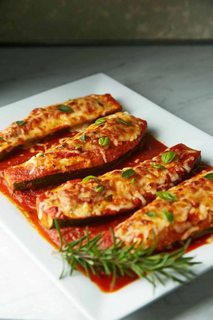 stuffed zucchinis with ricotta