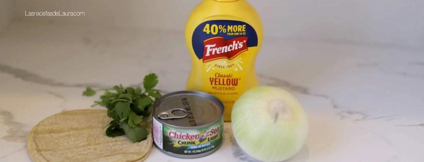 Tacos de atun a la mostaza