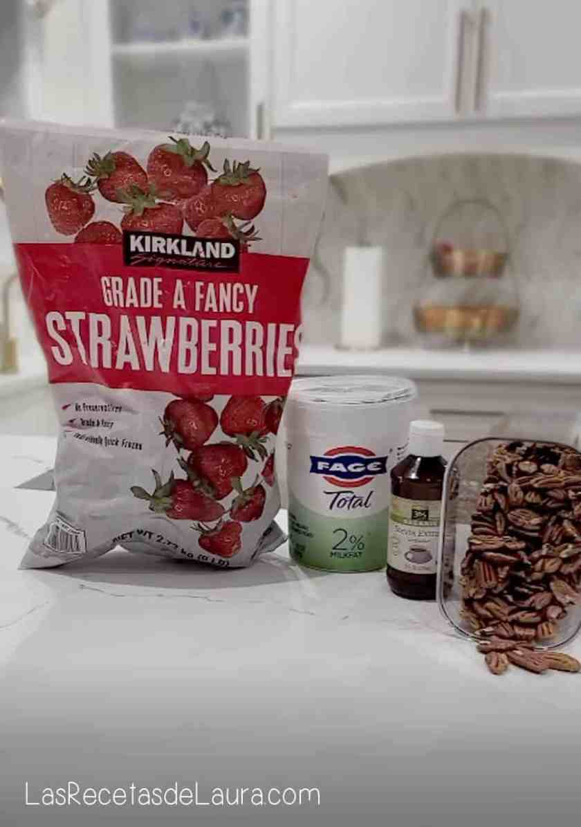 Ingredientes para postre de fresa