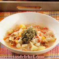 Como hacer Sopa de porotos de manteca