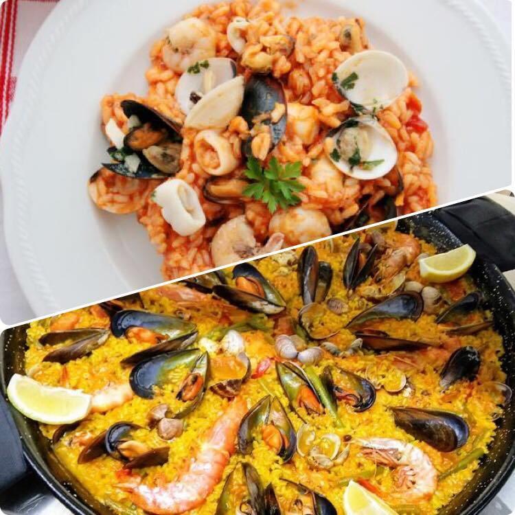 risotto vs paella valenciana