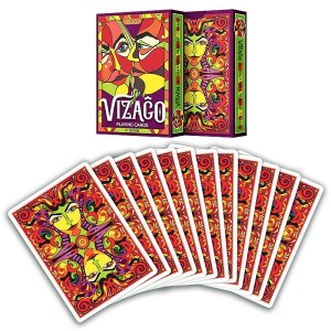 Vizago playing cards RED