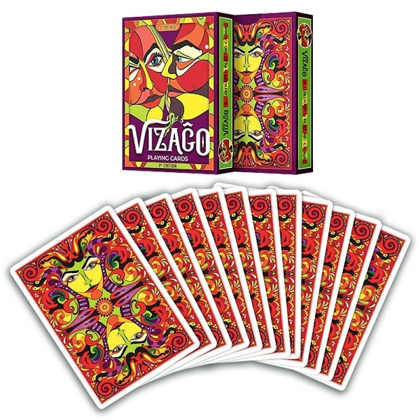 Vizago playing cards RED - LASSONELLAMANICA.COM - Mazzi di Carte, Giochi di Prestigio, Libri e Dvd di Magia. Recensioni, unboxing, tutorial!