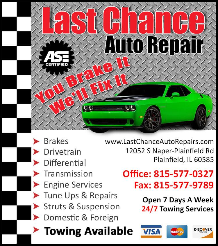 Auto Repair Plainfield IL Maintenance Service