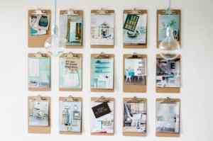 Interior beauty: clipboards