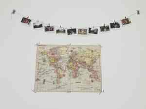 DIY polaroid photo garland