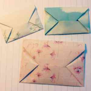DIY: Origami envelope