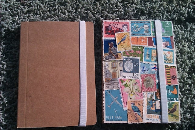 Give Away: Vintage stamps Notebook