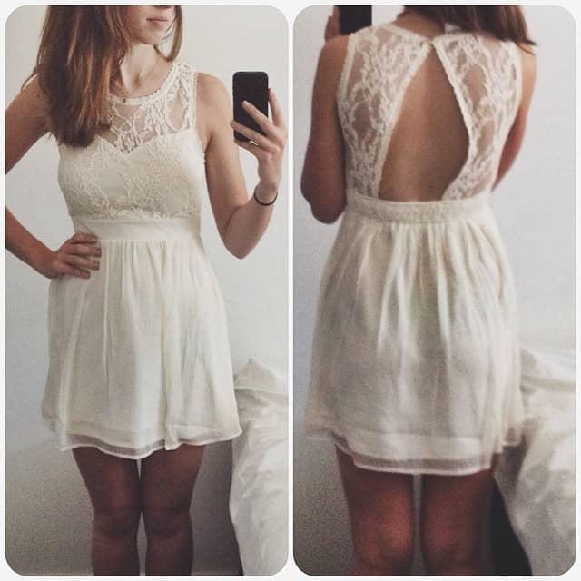 Witte jurk vero moda