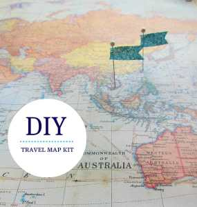 DIY: travel map