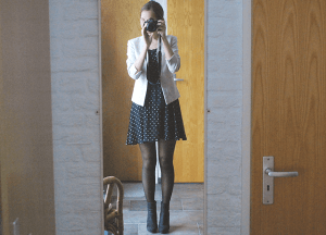 Outfit: polkadot dress