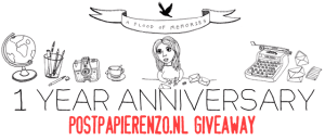 Letter project anniversary: international giveaway Postpapierenzo