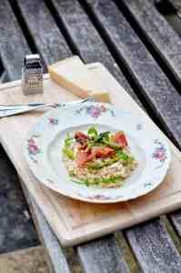 Recept: Lente risotto met groene asperges en pancetta