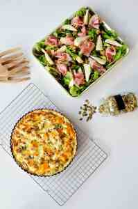 Autumn recipe: pumpkin quiche & cranberry – pear salad
