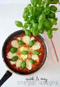 Recipe: one pot lasagna