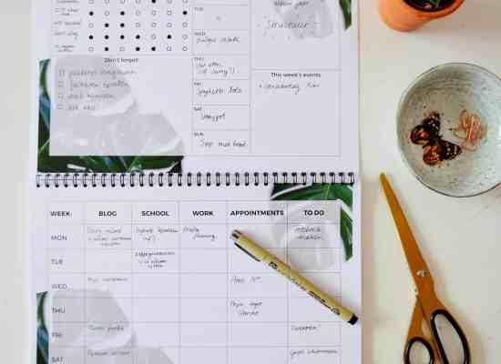 gratis weekplanner