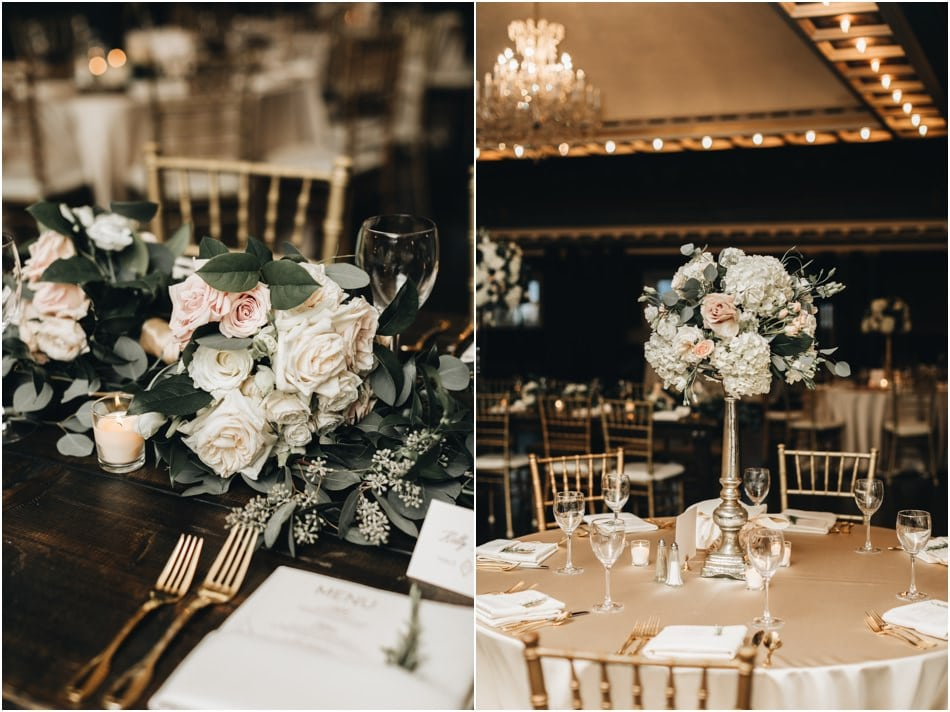 Burgandy and Gold Semple Mansion Wedding - Ceremony and Reception in Minneapolis, MN