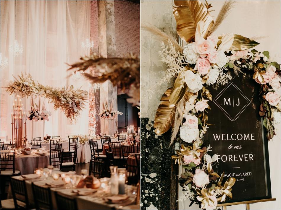 Blush and Pampus Grass wedding