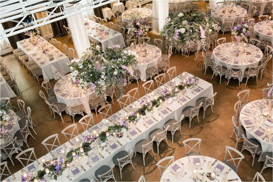 Purple Wedding Reception Machine Shop
