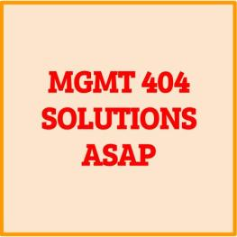MGMT 404 assignment help