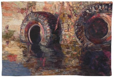 Sue De Vanny - On Reflection-Cape Town Harbour Fenders_R